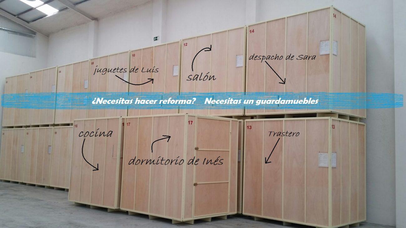 guardamuebles en sistema de contenedores